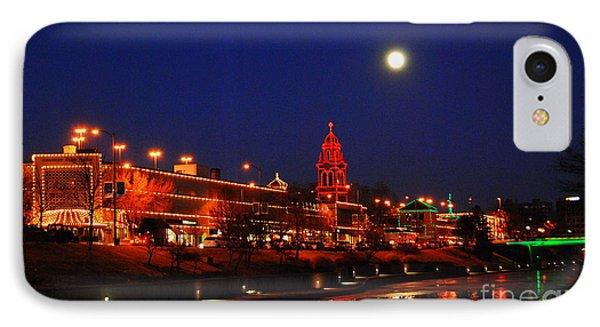 Full Moon Over Plaza Lights In Kansas City IPhone Case