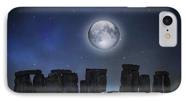Full Moon Over Stonehenge IPhone Case