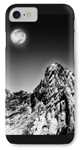 Full Moon Over The Suicide Rock Phone Case by Ben and Raisa Gertsberg