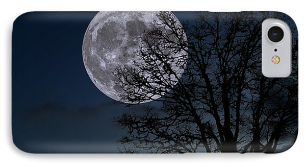 IPhone Case featuring the photograph Full Moon Rising by Dennis Bucklin