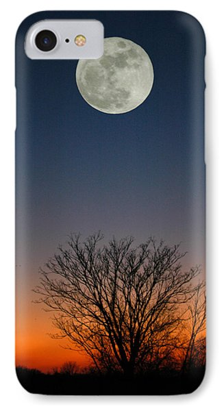 Full Moon Rising Phone Case by Raymond Salani III