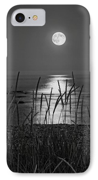 Full Moon Seawall Beach Acadia National Park IPhone Case by Keith Webber Jr