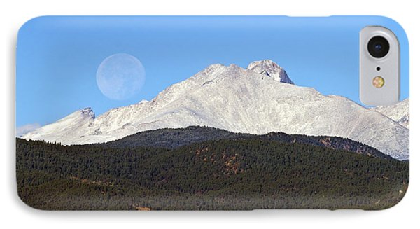 Full Moon Setting Over Snow Covered Twin Peaks  IPhone Case by James BO  Insogna