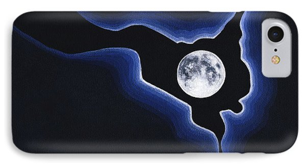 Full Moon Silver Lining IPhone Case by Janice Dunbar