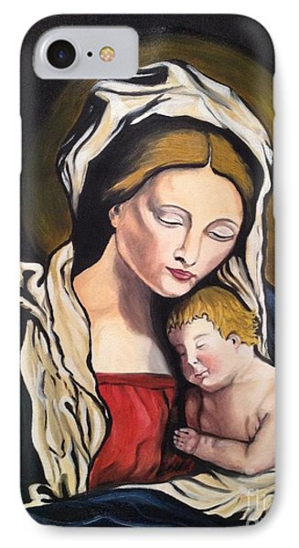IPhone Case featuring the painting Full Of Grace by Brindha Naveen
