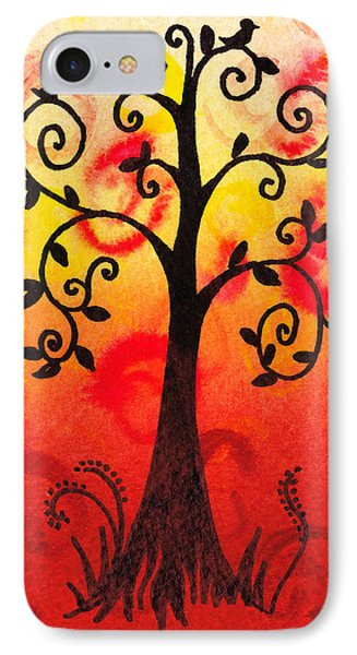 Fun Tree Of Life Impression IIi IPhone Case by Irina Sztukowski