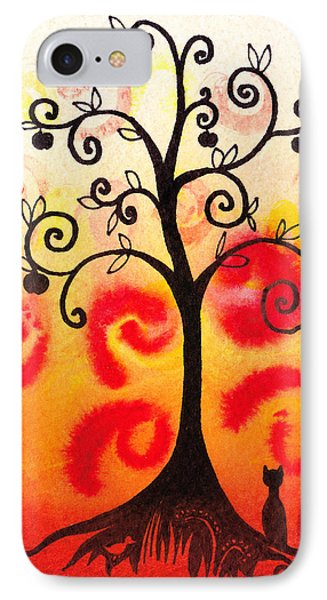 Fun Tree Of Life Impression Iv Phone Case by Irina Sztukowski