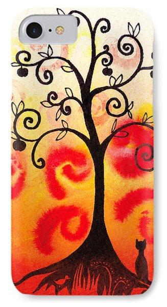 Fun Tree Of Life Impression Iv IPhone Case by Irina Sztukowski