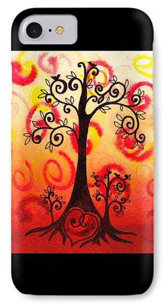 Fun Tree Of Life Impression Vi IPhone Case by Irina Sztukowski