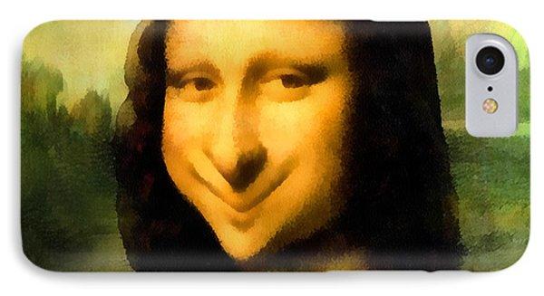 Fun With Mona Lisa IPhone Case by Leonardo da Vinci