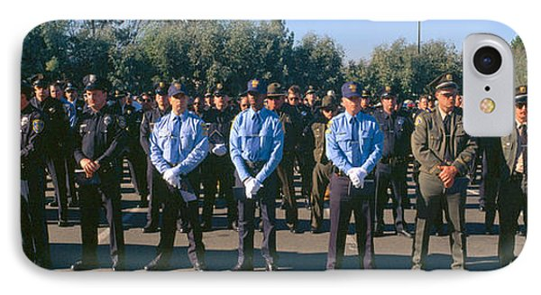 Funeral Service For Police Officer IPhone Case by Panoramic Images