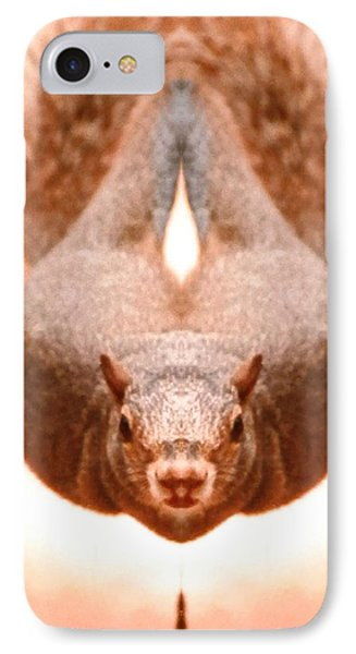 Flying Funky Brown Squirrel IPhone Case