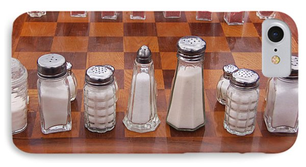 Funky Chess Set IPhone Case by Art Block Collections