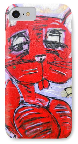 Funky Feline Phone Case by Ramona Johnston