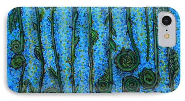 Funky Fiddleheads IPhone Case by Cynthia Lagoudakis