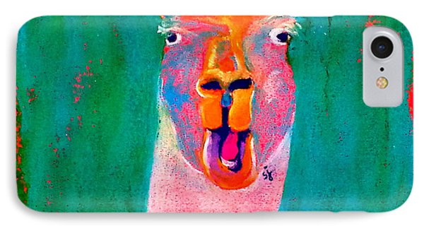 Funky Llama Art Print IPhone 7 Case
