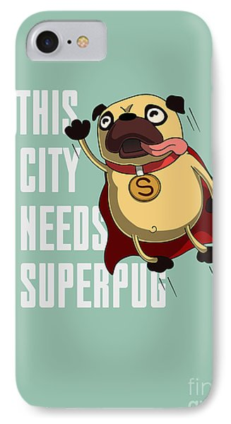 T Shirts iPhone 7 Case - Funny Cartoon Character Pug Design For by Just draw