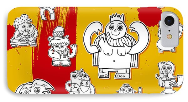 Funny Doodle Characters Urban Art Phone Case by Frank Ramspott