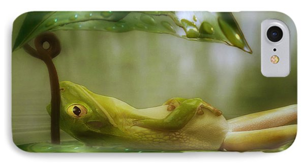 Funny Happy Frog Phone Case by Jack Zulli