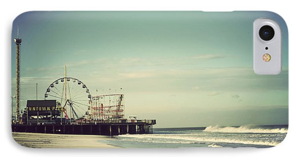 Shore iPhone 7 Case - Funtown Pier Seaside Heights New Jersey Vintage by Terry DeLuco