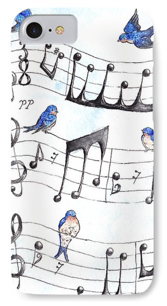 Fur Elise Song Birds Phone Case by Theresa Stinnett