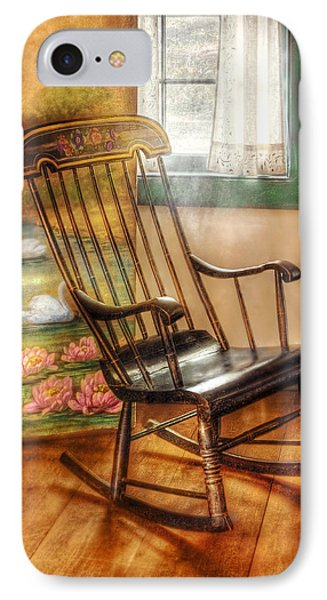 Furniture - Chair - The Rocking Chair Phone Case by Mike Savad