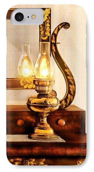 Furniture - Lamp - The Bureau And Lantern Phone Case by Mike Savad
