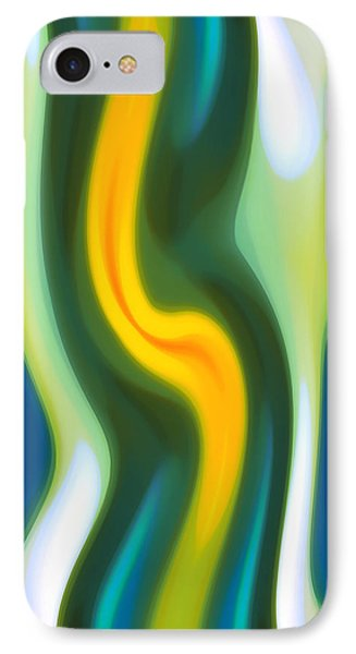 Abstract Tide 4 IPhone Case by Amy Vangsgard