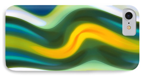 Abstract Tide 5 IPhone Case by Amy Vangsgard