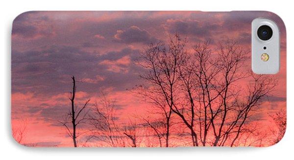 Fuschia And Purple Sunset Phone Case by Deborah Smolinske