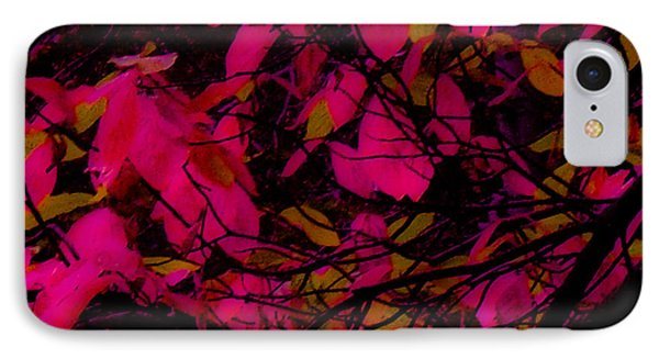 IPhone Case featuring the digital art Fuscia Leaves by Kristen R Kennedy