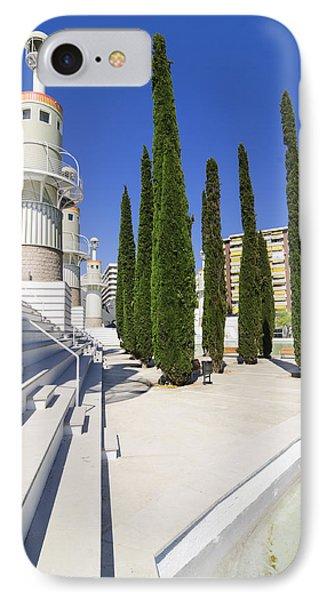 Futuristic Park In Barcelona Spain Phone Case by Matthias Hauser