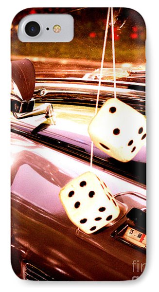 Fuzzy Dice IPhone Case by Valerie Reeves