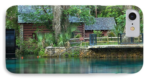 Fuzzy Reflections Of The Juniper Springs Mill IPhone Case