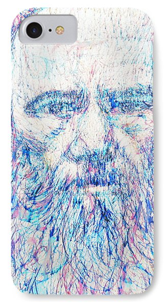 Fyodor Dostoyevsky / Colored Pens Portrait IPhone Case by Fabrizio Cassetta