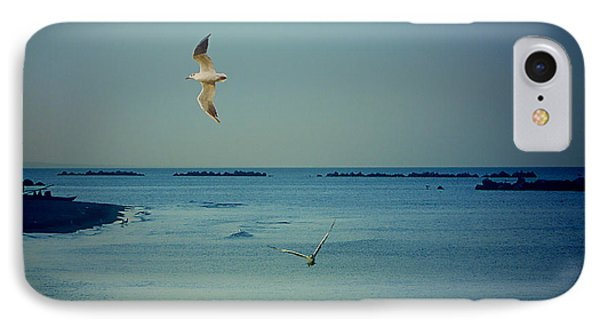IPhone Case featuring the photograph Gabbiani - Seagulls by Ze  Di