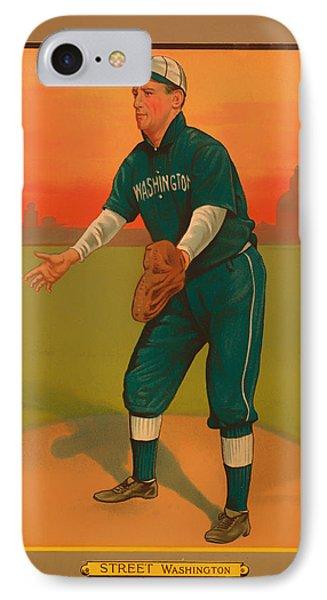 Gabby Street Baseball Card 1911 IPhone Case by Mountain Dreams