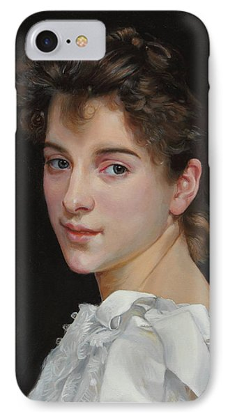 Gabrielle Cot After W. Bougereau IPhone Case by Glenn Beasley