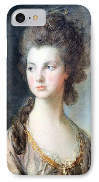 Gainsborough's The Hon. Mrs. Thomas Graham Up Close IPhone Case by Cora Wandel