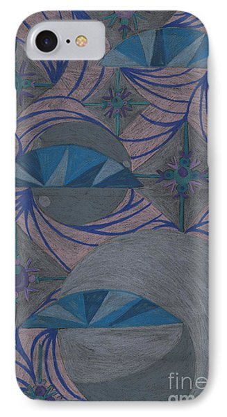 IPhone Case featuring the drawing Galactic by Kim Sy Ok
