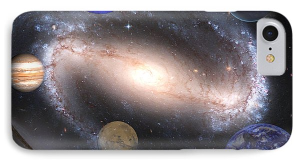 Galaxies And Planets Phone Case by J D Owen