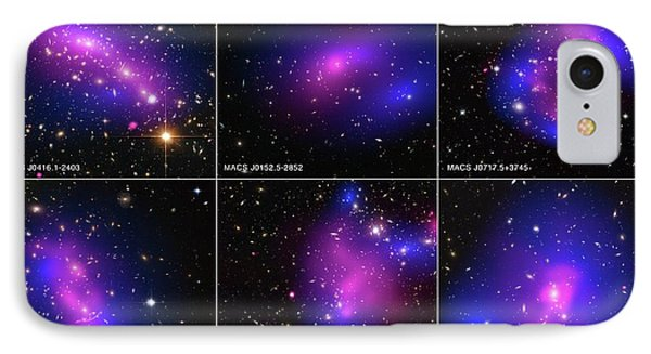 Galaxy Clusters And Dark Matter IPhone Case by Nasa/stsci/cxc/esa