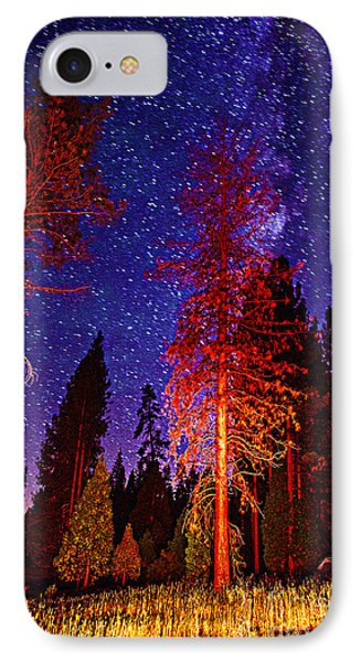 IPhone Case featuring the photograph Galaxy Stars By The Campfire by Jerry Cowart