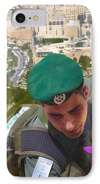 Gallant And Kind Israeli Soldier Phone Case by Sandra Pena de Ortiz