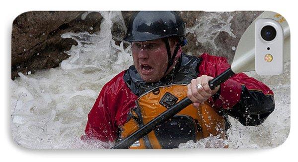 Gallatin Kayaker  Phone Case by Jason Standiford
