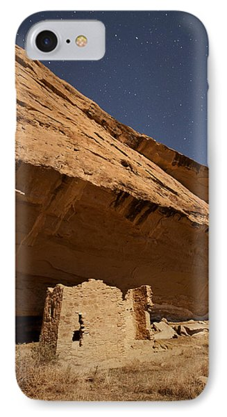 Gallo Cliff Dwelling Under The Bright Moon IPhone Case by Melany Sarafis