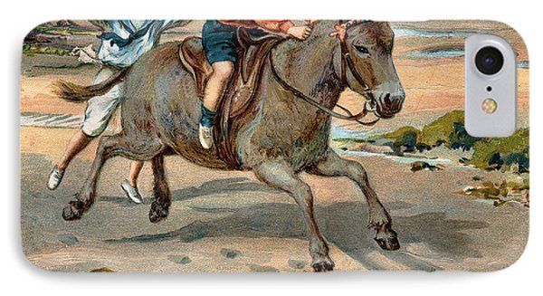 Galloping Donkey At The Beach Phone Case by Unknown