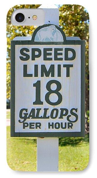 Gallops Per Hour Phone Case by Cynthia Guinn