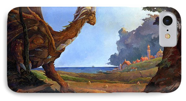 Galversharn The Dragon Looking For Her Eggs Phone Case by Storn Cook