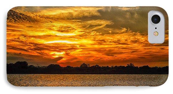 Galveston Island Sunset Dsc02805 IPhone Case by Greg Kluempers